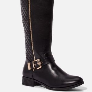 JUST FAB Women's Cersei Riding Boot
